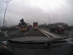 Aanrijding vrachtwagen-personenauto A2